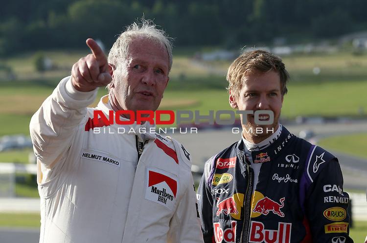 Helmut Marko (AUT), Red Bull Racing, Red Bull Advisor - Sebastian Vettel (GER), Red Bull Racing<br /> for the complete Middle East, Austria &amp; Germany Media usage only!<br />  Foto &copy; nph / Mathis