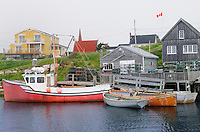 Boats in historic fishing village<br /> Peggy's Cove<br /> Nova Scotia<br /> Canada