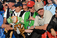 September 24th, 2006. Fans during the singles final session of the last day of the 2006 Ryder Cup at the K Club in Straffan,. County Kildare in the Republic of Ireland...Photo: Eoin Clarke/ Newsfile..