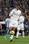 Real Madrid´s Raphael Varane during La Liga match at Santiago Bernabeu stadium in Madrid, Spain. February 14, 2015. (ALTERPHOTOS/Victor Blanco)