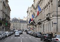 General view of Rue Esprit des Lois, Bordeaux, Nouvelle-Aquitaine, France on 16.10.19.