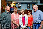 L-R Bernard Finnigan, Margaret McGrath, Ardfert, Mary Cantillion Moran, Camp,  with Maria&Eugene McGrath, Tralee, supporting the ' Night of Stage&Screen ' in the Ballymac bar, Tralee last Friday evening performed by ' Act Up Drama group '.