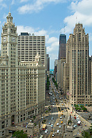 "The architecture of Chicago has influenced and reflected the history of American architecture. The city of Chicago, Illinois features prominent buildings in a variety of styles by many important architects. Since most buildings within the downtown area were destroyed by the Great Chicago Fire in 1871, Chicago buildings are noted for their originality rather than their antiquity..Beginning in the early 1880s, architectural pioneers of the Chicago School explored steel-frame construction and, in the 1890s, the use of large areas of plate glass. These were among the first modern skyscrapers and amongst their most famous architects were William LeBaron, John Wellborn Root Sr., Daniel Burnham and Charles Atwood. Louis Sullivan was perhaps the city's most philosophical architect. Realizing that the skyscraper represented a new form of architecture, he discarded historical precedent and designed buildings that emphasized their vertical nature. This new form of architecture, by Jenney, Burnham, Sullivan, and others, became known as the ""Commercial Style,"" but it was called the ""Chicago School"" by later historians..Since 1963, a ""Second Chicago School"" emerged, largely due to the ideas of structural engineer Fazlur Khan. Some of Chicago's skyscrapers such as the John Hancock Center, Willis Tower (formerly known as the Sears Tower) and The Trump International Hotel and Tower are amongst the tallest buildings in the world."