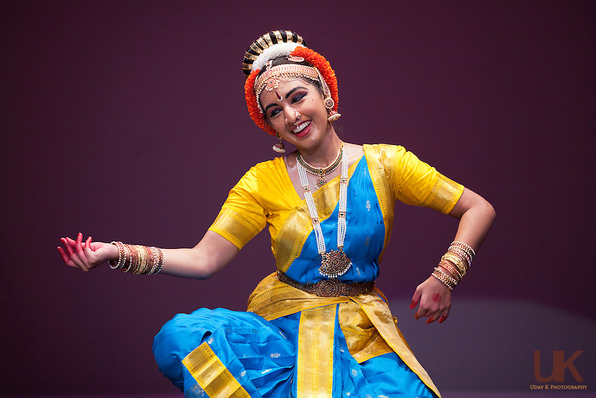 Bhaskari Burra during her Kuchipudi  Rangapravesham on July 31st, 2011 at the Eisemann Center in Richardson, Texas