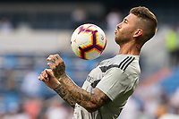 Sergio Ramos of Real Madrid during the match between Real Madrid v Cd Leganes of LaLiga, 2018-2019 season, date 3. Santiago Bernabeu Stadium. Madrid, Spain - 1 September 2018. Mandatory credit: Ana Marcos / PRESSINPHOTO