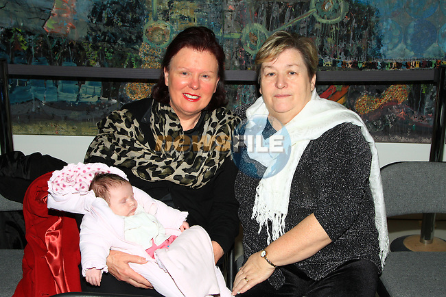 Grandmothers Margaret Hughes, Marie Russell and Baby Ellie Russell at the St. Patrick's Boys Choral recital in the Highlanes Gallery..Picture: Shane Maguire / www.newsfile.ie.