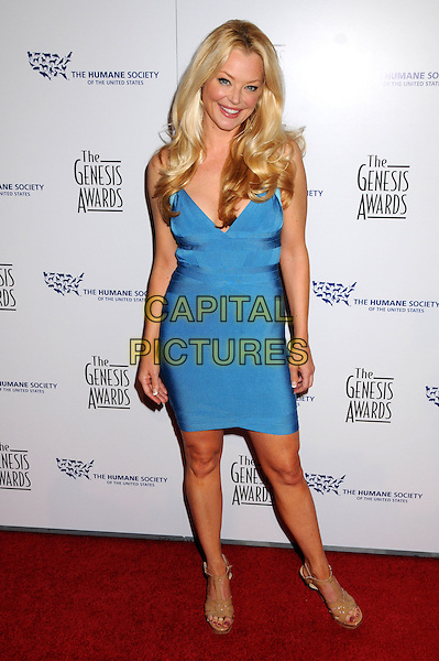 CHARLOTTE ROSS .24th Annual Genesis Awards - Arrivals held at the Beverly Hilton Hotel, Beverly Hills, California, USA, 20th March 2010..full length blue dress bandage beige sandals .CAP/ADM/BP.©Byron Purvis/AdMedia/Capital Pictures.