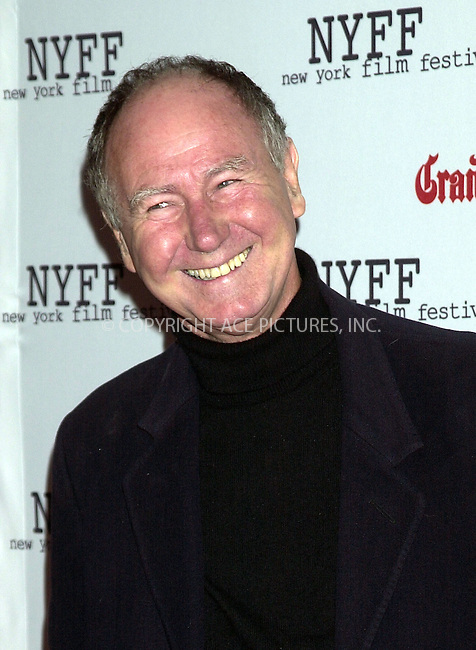"Bill Raymond at the screening of ""Dogville"" during the NY Film Festival. New York, October 4, 2003. Please byline: NY Photo Press.   ..*PAY-PER-USE*      ....NY Photo Press:  ..phone (646) 267-6913;   ..e-mail: info@nyphotopress.com"