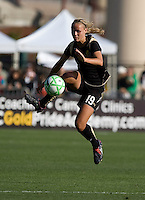 Carrie Dew controls the ball. Los Angeles Sol defeated FC Gold Pride 2-0 at Buck Shaw Stadium in Santa Clara, California on May 24, 2009.