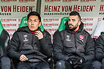 09.02.2019, HDI Arena, Hannover, GER, 1.FBL, Hannover 96 vs 1. FC Nuernberg<br /> <br /> DFL REGULATIONS PROHIBIT ANY USE OF PHOTOGRAPHS AS IMAGE SEQUENCES AND/OR QUASI-VIDEO.<br /> <br /> im Bild / picture shows<br /> Ersatzbank 1. FC N&uuml;rnberg, <br /> Yuya Kubo (Nuernberg #14), Mikael Ishak (Nuernberg #09), <br /> <br /> Foto &copy; nordphoto / Ewert