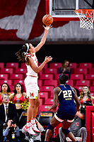 College Park, MD - NOV 29, 2017: Maryland Terrapins forward Stephanie Jones (24) goes up for a layup during ACC/Big Ten Challenge game between Gerogia Tech and the No. 7 ranked Maryland Terrapins. Maryland defeated The Yellow Jackets 67-54 at the XFINITY Center in College Park, MD.  (Photo by Phil Peters/Media Images International)