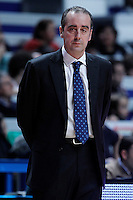 Asefa Estudiantes' coach Txus Vidorreta during Liga Endesa ACB match.January 6,2012. (ALTERPHOTOS/Acero) /NortePhoto