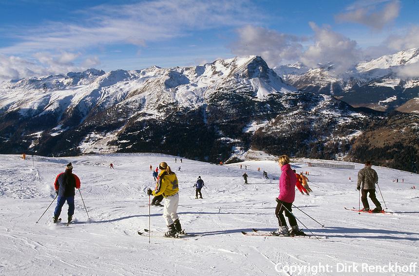 Österreich, Skipiste bei Nauders in Nordtirol