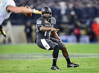 Baltimore, MD - DEC 10, 2016: Army Black Knights quarterback Ahmad Bradshaw (17) pitches the ball away during game between Army and Navy at M&T Bank Stadium, Baltimore, MD. (Photo by Phil Peters/Media Images International)