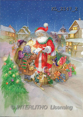 Interlitho, Sue Allison, CHRISTMAS SANTA, SNOWMAN, classical, paintings, santa, market, lantern(KL2147/2,#X#) Weihnachtsmänner, Papá Noel, Weihnachten, Navidad, illustrations, pinturas klassisch, clásico