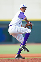 Relief pitcher Santos Rodriguez #20 of the Winston-Salem Dash in action against the Salem Red Sox at  BB&T Ballpark June 27, 2010, in Winston-Salem, North Carolina.  Photo by Brian Westerholt / Four Seam Images