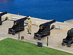 Saluting Battery guns, Upper Barrakka Gardens, Valletta, Malta