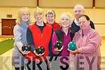 Members of Neidin Bowls who hosted an open day for indoor bowls clubs from Kerry at the GAA grounds in Kenmare last Thursday. .Front L-R Kate White, Sue Harris, Mo Glover and Sue Eccles. .Back L-R Maeve Arnold, Vera Shaw and Aiden McCabe.