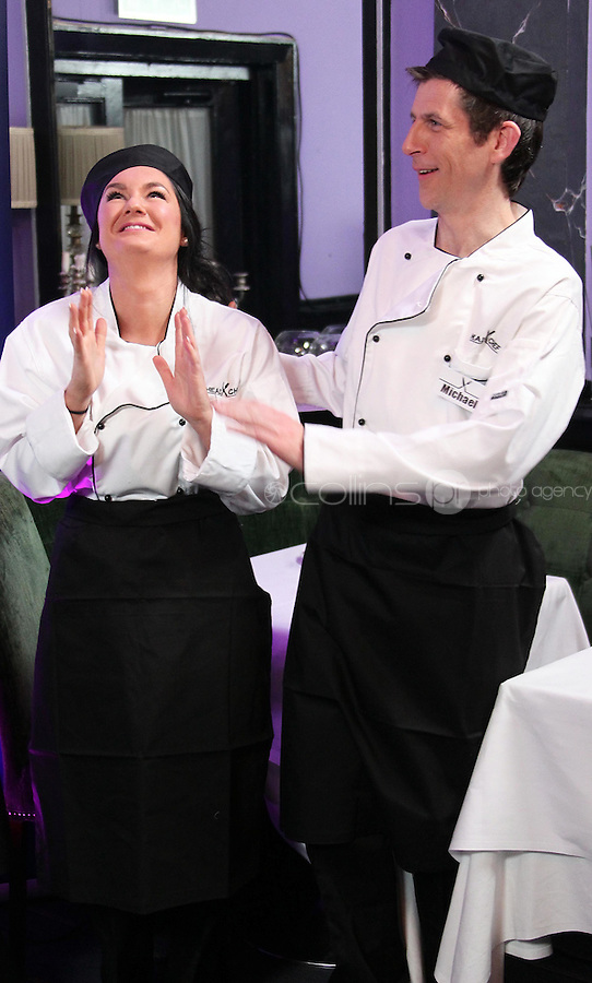 21/06/'11 Contestants in Celebrity Head Chef, Geraldine O'Callaghan and Michael Hayes in Chef Conrad Gallagher of TV3's Celebrity Head Chef series pictured in his  'Dining Room' Restaurant...NO REPRODUCTION FEE PIC...Picture Colin Keegan, Collins, Dublin.
