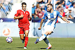 CD Leganes' David Timor (r) and Sevilla FC's Wissam Ben Yedder during La Liga match. October 15,2016. (ALTERPHOTOS/Acero)
