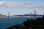 California: San Francisco. Land's End view of the Golden Gate. Photo copyright Lee Foster. Photo #: 25-casanf75720