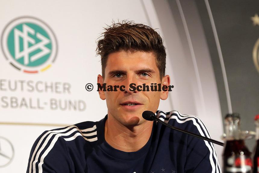 Mario Gomez - Pressekonferenz der Deutschen Nationalmannschaft, Hyatt Mainz