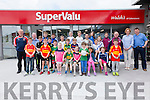 Kerry Captain Bryan Sheehan pictured at Walsh's Super Valu, Cahersiveen on Saturday for the New Look Store Opening and presented the Kits for Kids Promotion to 5 of the successful South Kerry Clubs - Dromid, St Marys, Renard, Valentia & Skellig Rangers.