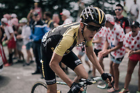 George Bennett (NZL/LottoNL-Jumbo) up the final HC climb of the day: the Mont du Chat (HC/8.7km/10.3%)<br /> <br /> 104th Tour de France 2017<br /> Stage 9 - Nantua › Chambéry (181km)