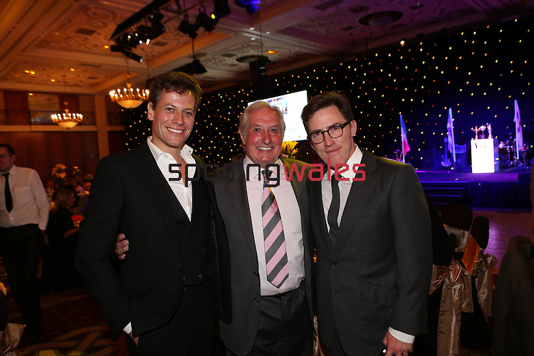 Celebrity Golf @ Golf Live.Gala Dinner.Ioan Gruffudd, Gareth Edwards & Rob Brydon..Celtic Manor Resort.11.05.13.©Steve Pope
