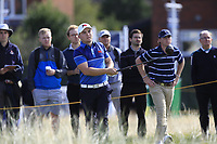 Alex Fitzpatrick (GB&I) on the 17th tee during the Foursomes at the Walker Cup, Royal Liverpool Golf CLub, Hoylake, Cheshire, England. 07/09/2019.<br /> Picture Thos Caffrey / Golffile.ie<br /> <br /> All photo usage must carry mandatory copyright credit (© Golffile | Thos Caffrey)
