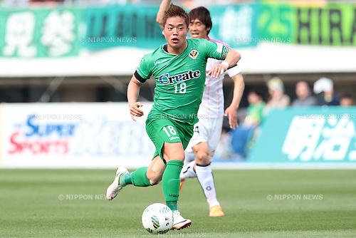 Daisuke Takagi (Verdy), <br /> APRIL 23, 2016- Football /Soccer : <br /> 2016 J2 League match <br /> between Tokyo Verdy 0-3 Mito Hollyhock <br /> at Komazawa Olympic Park Stadium in Tokyo, Japan. <br /> (Photo by AFLO SPORT)