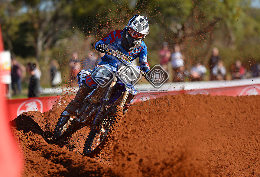 James Jafer / Yamaha<br /> 2015 MX Nationals / Round 4 / MX2<br /> Australian Motocross Championships<br /> Murray Bridge SA Sunday 17 May 2015<br /> &copy; Sport the library / Jeff Crow