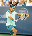 Roger Federer (SUI) during his match against Andy Murray (GBR) at the Western & Southern Open in Mason, OH on August 15, 2014.