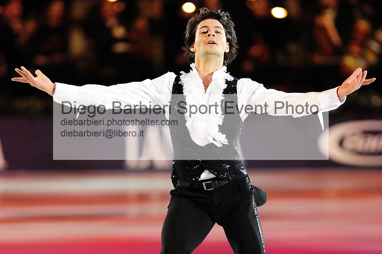 2012.01.01 Stephane Lambiel exhibits at Capodanno on Ice, ice figure skating gala at Palavela in Turin, Italy<br />