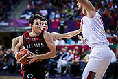 5th September 2017, Fenerbahce Arena, Istanbul, Turkey; FIBA Eurobasket Group D; Turkey versus Belgium; Point Guard Sam Van Rossom #5 of Belgium drives tot he basket during the match