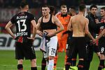 08.11.2018, BayArena, Leverkusen, Europaleque, Vorrunde, GER, UEFA EL, Bayer 04 Leverkusen (GER) vs. FC Zuerich (SUI),<br />  <br /> DFL regulations prohibit any use of photographs as image sequences and/or quasi-video<br /> <br /> im Bild / picture shows: <br /> Benjamin Kololli (FC Zuerich #70), verabschiedet sich von Lucas Alario (Leverkusen #13), <br /> <br /> Foto &copy; nordphoto / Meuter<br /> <br /> <br /> <br /> Foto &copy; nordphoto / Meuter