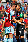 10th September 2017, Turf Moor, Burnley, England; EPL Premier League football, Burnley versus Crystal Palace; Stephen Ward of Burnley marks Joel Ward of Crystal Palace closely on a set play