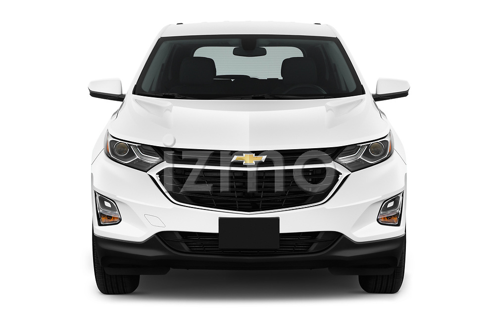 Car photography straight front view of a 2019 Chevrolet Equinox LT 5 Door SUV
