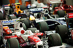 27 Sept 2009, Singapore --- F1 cars are parked after the Fia Formula One 2009 Singtel Singapore Grand Prix, the world's only street night race, at the Marina Bay street circuit. Photo by Victor Fraile --- Image by © Victor Fraile/Corbis