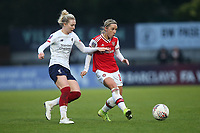 Jordan Nobbs of Arsenal and Rhiannon Roberts of Liverpool during Arsenal Women vs Liverpool Women, Barclays FA Women's Super League Football at Meadow Park on 24th November 2019