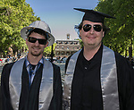 Colton Dean and Everest Donske during the University of Nevada College of Engineering, College of Science and Orvis School of Nursing graduation ceremony on Thursday evening, May 18, 2017.
