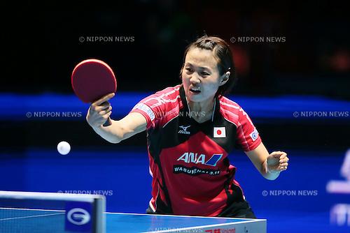 Sayaka Hirano (JPN), <br /> DECEMBER 13, 2014 - Table Tennis : <br /> GAC Group 2014 ITTF World Tour Grand Finals <br /> Women's Singles <br /> at Indoor Stadium Huamark, Bangkok, Thailand <br /> (Photo by YUTAKA/AFLO SPORT) [1040]
