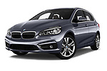 Stock pictures of low aggressive front three quarter view of 2017 BMW 2-Series-Active-Tourer Luxury 5 Door Mini MPV Low Aggressive