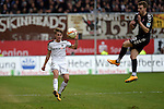 GER - Sandhausen, Germany, March 19: During the 2. Bundesliga soccer match between SV Sandhausen (white) and FC ST. Pauli (grey) on March 19, 2016 at Hardtwaldstadion in Sandhausen, Germany. (Photo by Dirk Markgraf / www.265-images.com) *** Local caption *** Marco Thiede #7 of SV Sandhausen