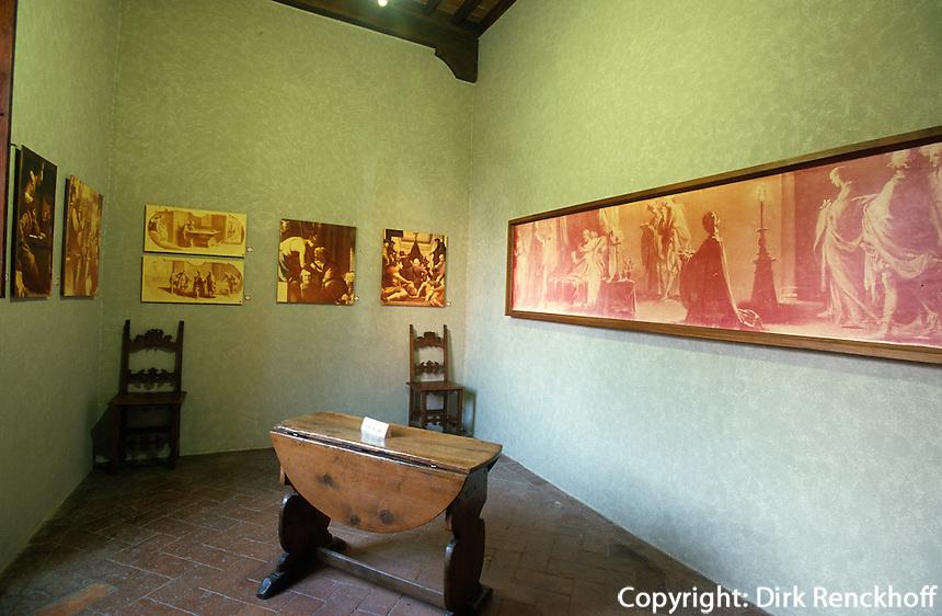 Italien, Toskana, Caprese Michelangelo, Geburtshaus von Michelangelo