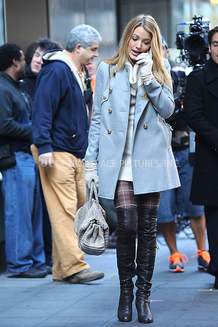 WWW.ACEPIXS.COM . . . . . ....November 9 2009, New York City....Actress Blake Lively on the set of the TV show 'Gossip Girl' in midtown Manhattan on November 9 2009 in New York City....Please byline: KRISTIN CALLAHAN - ACEPIXS.COM.. . . . . . ..Ace Pictures, Inc:  ..tel: (212) 243 8787 or (646) 769 0430..e-mail: info@acepixs.com..web: http://www.acepixs.com
