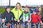 Ben Cooney, Lorna, Jonathon and Kevin Keane Castleisland who cycled in the Castleisland fun Cycle race on Sunday ..