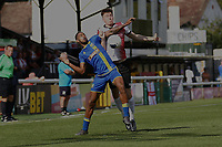 Jack Cook of Woking and Jamie Beckford of Solihull Moors during Woking vs Solihull Moors, Vanarama National League Football at The Laithwaite Community Stadium on 24th August 2019