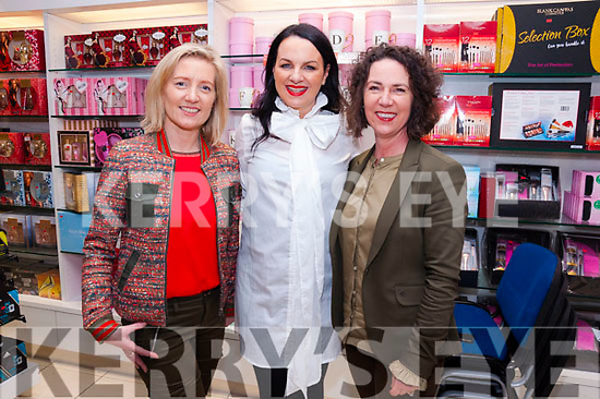 Sandra Rusk (left) and Amanda Tarrant (right) photographed with special guest Triona McCarthy<br /> at &quot;The Clarins Autumn Beauty Edit&quot; event at CH Chemists in Tralee on Friday evening.