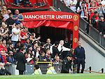Jose Mourinho manager of Manchester United waits in the tunnel for half time during the Premier League match at Old Trafford Stadium, Manchester. Picture date: September 10th, 2016. Pic Simon Bellis/Sportimage